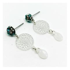 ELILOLA BIJOUX - Boucles d'oreilles turquoises - Boucles d'oreille - Cristal