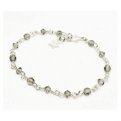 ELILOLA BIJOUX - Bracelet perles en cristal grises - Bracelet - Cristal (swarovski)