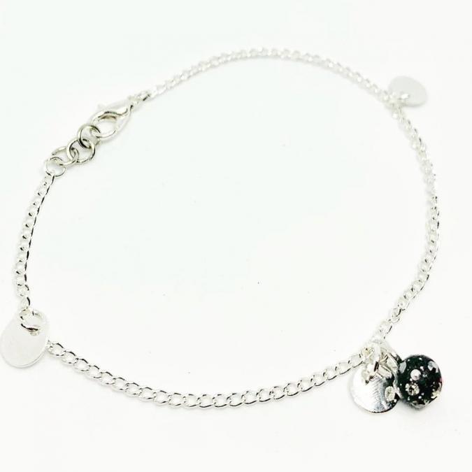 ELILOLA BIJOUX - Bracelet sequins rondes plaqué argent - Bracelet - argent
