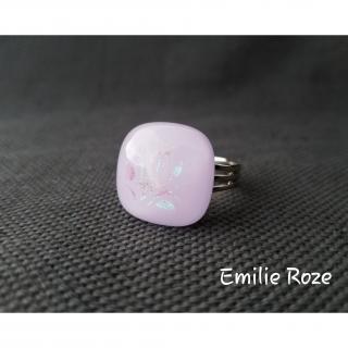 Emilie Roze - Bague rose clair - Bague - Verre