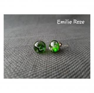 Emilie Roze - Boucles d'oreille puce vertes - Boucles d'oreille - Acajou