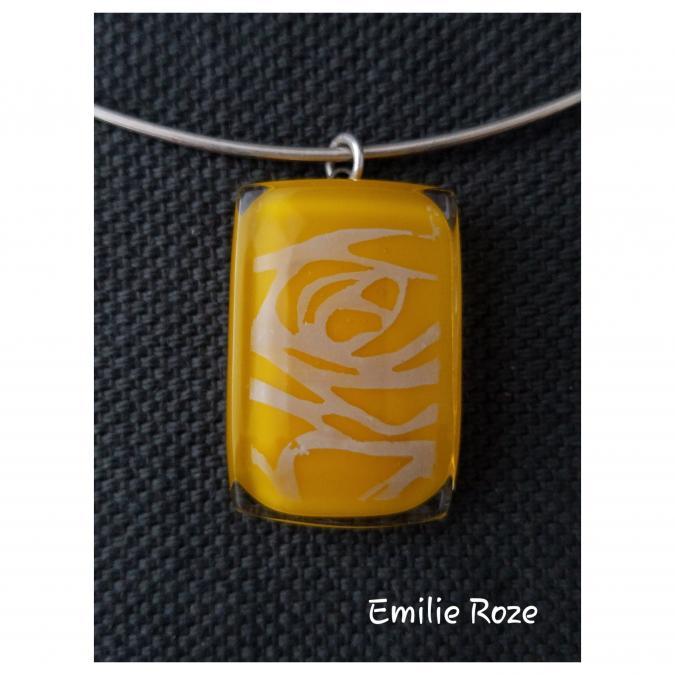 Emilie Roze - Collier jaune - Collier - Verre