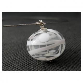 Emilie Roze - Collier perle soufflée transparente et blanche - Collier - Verre
