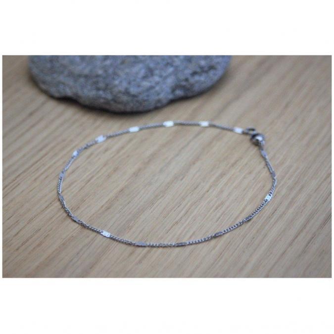 EmmaFashionStyle - Bracelet de cheville en acier - Chaine de cheville