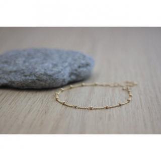 EmmaFashionStyle - Bracelet en or Gold Filled chaine perlée - Bracelet - Or (gold filled)