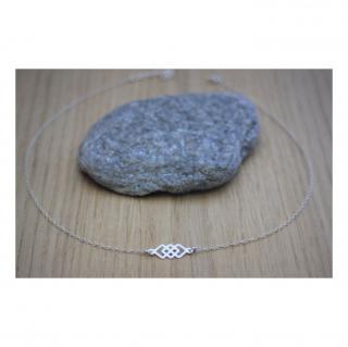EmmaFashionStyle - Collier argent massif 3 carrés enlacés - Collier - argent