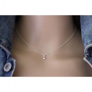 EmmaFashionStyle - Collier argent massif breloque petite étoile - Collier - argent