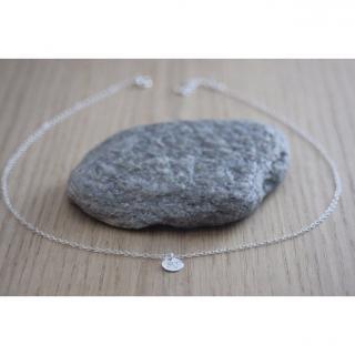 EmmaFashionStyle - Collier argent massif pendentif mini médaille gravée pissenlit - Collier - argent