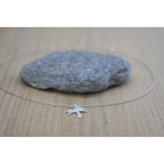 EmmaFashionStyle - Collier argent massif pendentif palmier - Collier - argent
