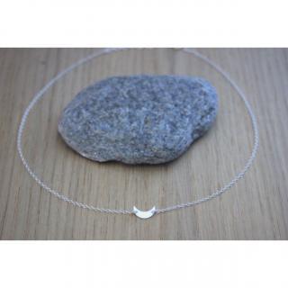 EmmaFashionStyle - Collier argent massif pendentif petite lune - Collier - argent