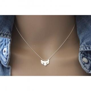 EmmaFashionStyle - Collier en argent massif pendentif renard - Collier - argent