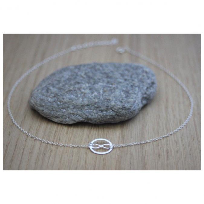 EmmaFashionStyle - Collier Infini et anneau en argent massif - Collier - argent