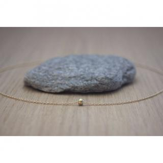 EmmaFashionStyle - Collier minimaliste 1 perle boule en or Gold Filled - Collier - Or (gold filled)
