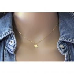 EmmaFashionStyle - Collier or gold filled pendentif coeur - Collier - Or (gold filled)