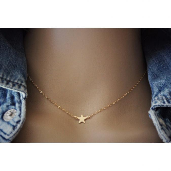 EmmaFashionStyle - Collier petite étoile en or Gold Filled - Collier - Or (gold filled)