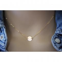 EmmaFashionStyle - Collier petite médaille en or Gold Filled - Collier - Or (gold filled)