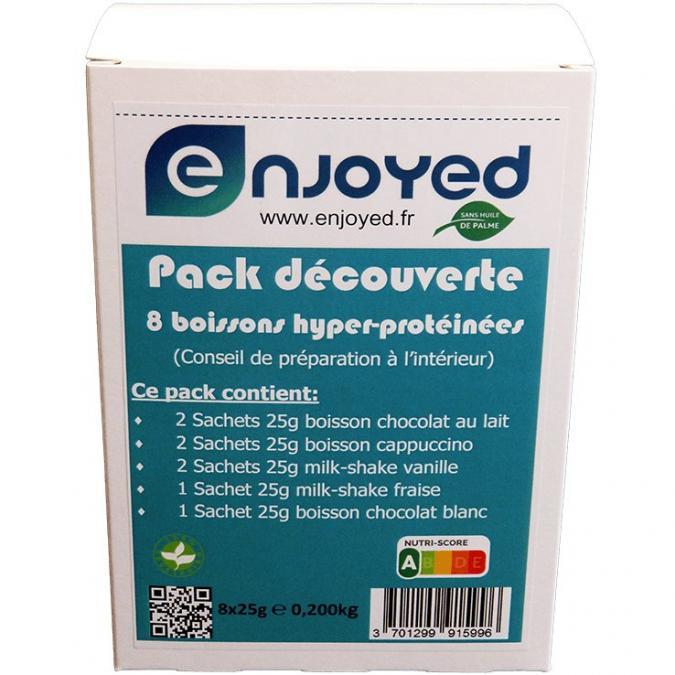 Enjoyed - PACK DÉCOUVERTE 8 BOISSONS HYPER-PROTÉINÉES - Plat préparé - 0.200