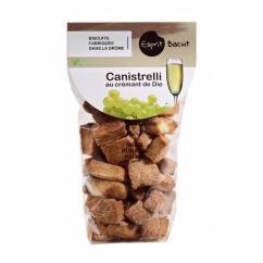 ESPRIT BISCUIT - Canistrelli au Crémant de Die Bio - Apéritif et biscuits salés - 200 gr