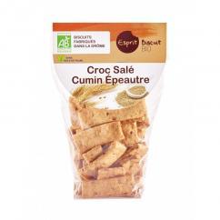 ESPRIT BISCUIT - Croc salé Cumin Epeautre Bio - Apéritif et biscuits salés - 200 gr