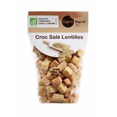 ESPRIT BISCUIT - Croc salé Lentilles Bio - Apéritif et biscuits salés - 200 gr