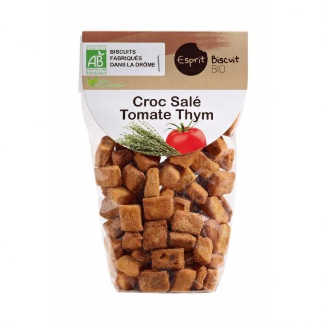 ESPRIT BISCUIT - Croc salé Tomate Thym Bio - Apéritif et biscuits salés - 200 gr