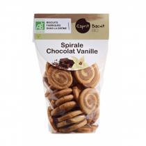 ESPRIT BISCUIT - Spirale Vanille Chocolat Bio - Biscuit et gâteau individuel - 200 gr