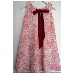 Et Zut - Enfant fille robe Pénélope 6 ans/8 ans - Robe - Rouge