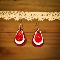 Façonne Mi - Boucle d'oreille - Boucles d'oreille - Cuir