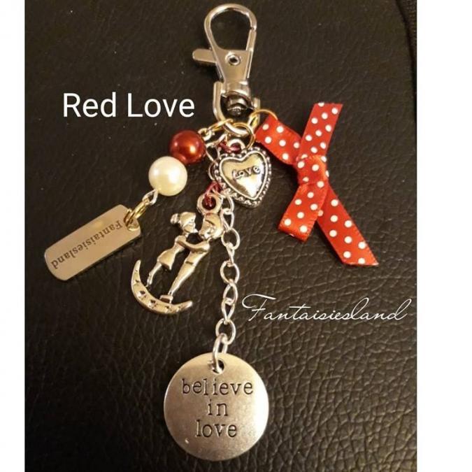 Fantaisiesland - Bijou de sac - Red love - Bijoux de sac