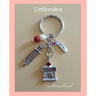 Fantaisiesland - Porte-clés Infirmière - Porte-clés
