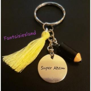 Fantaisiesland - Porte-clés Super Atsem jaune - Porte-clés