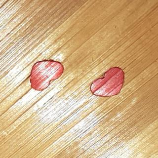 Farfeline - Boîte en marqueterie de paille dorée & rouge - forme coeur - Boite