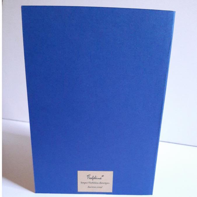 Farfeline - Carte motif perforé coeurs - bleu & bleu ciel - Carte de voeux