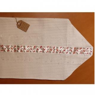 Farfeline - Centre de table en coton - motif rennes rouges & argentés - centre de table