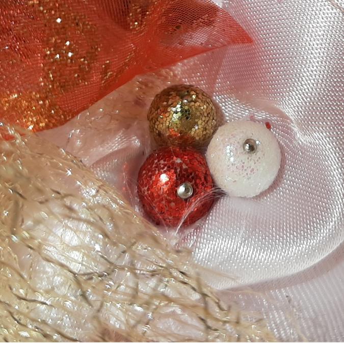Farfeline - Couronne de Noël - dorée - décoration de noêl