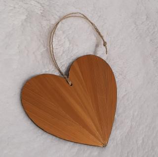 Farfeline - Décoration de sapin en marqueterie de paille - Coeur - décoration de noêl
