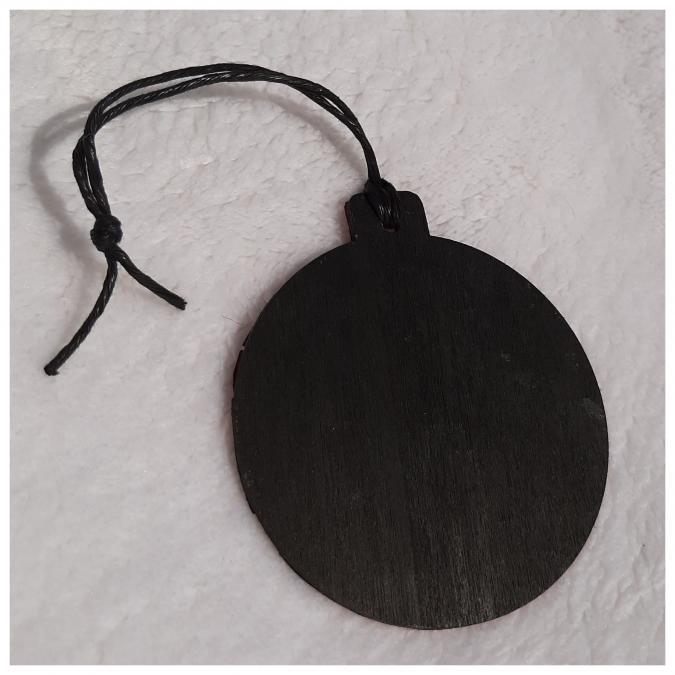 Farfeline - Décoration de sapin en marqueterie de paille - Ronde - décoration de noêl