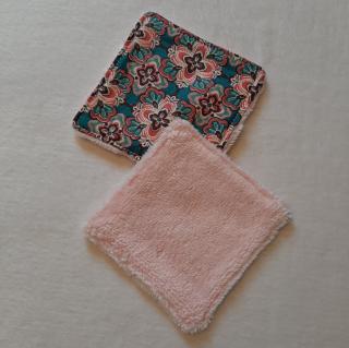 Farfeline - Ensemble sortie de bain & repas pour bébé - Motif provençal  - Rose/bleu canard - Cape de bain (enfant)
