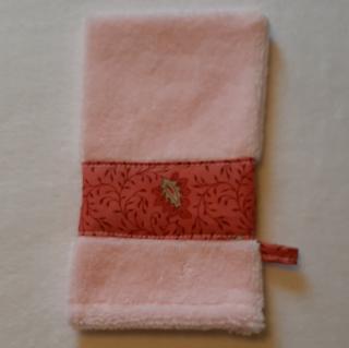 Farfeline - Ensemble sortie de bain & repas pour bébé - Motif provençal  - Rose/rose foncé - Cape de bain (enfant)