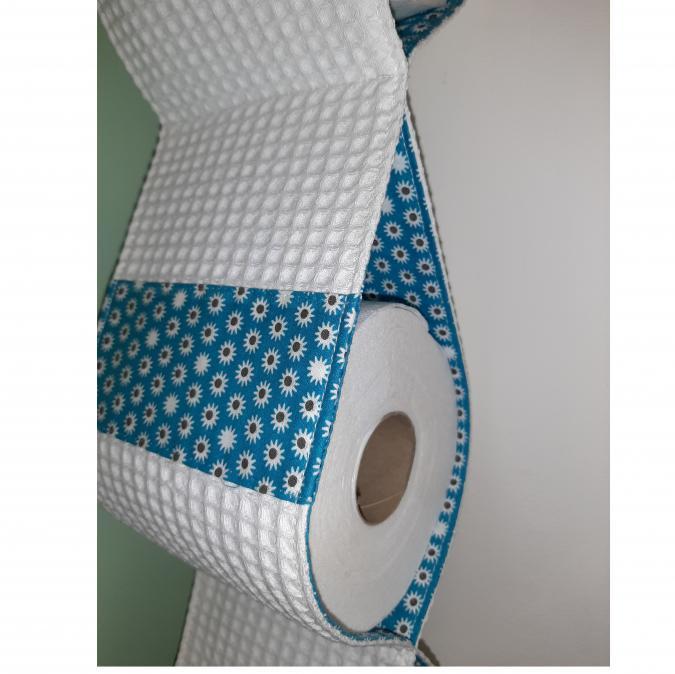 Farfeline - Support papier toilette en tissu - petites fleurs - support papier toilette