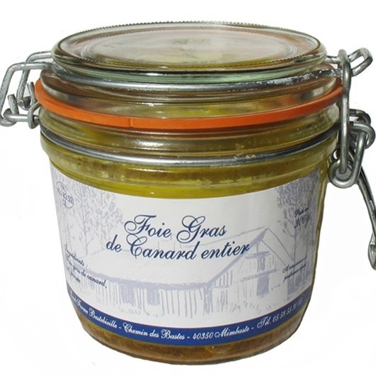 Ferme Bastebieille - Foie Gras de Canard Entier Conserve Bocal de 300g - Foie gras - 300g
