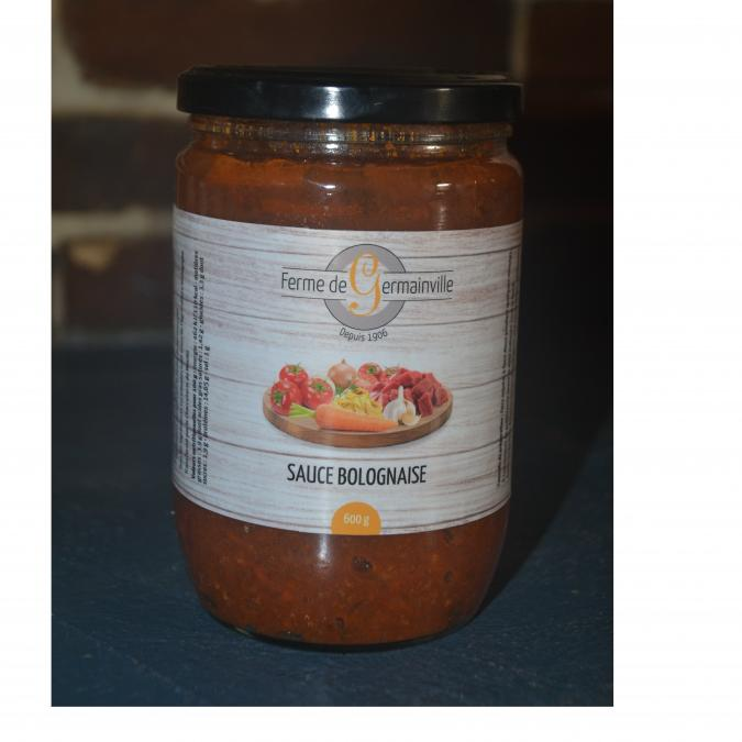 Ferme de Germainville - Bolognaise de boeuf angus BIO - Plat préparé - 0.6