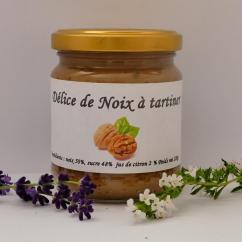 Ferme du Spicorne - DÉLICE DE NOIX - Pâte à tartiner - 0.350