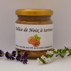 Ferme du Spicorne - DÉLICE DE NOIX - Pâte à tartiner - 0.220