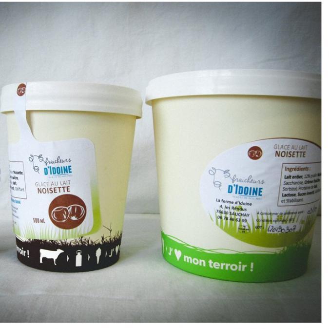 Ferme d'Idoine - Glace Caramel Beurre Salé 1L - glace