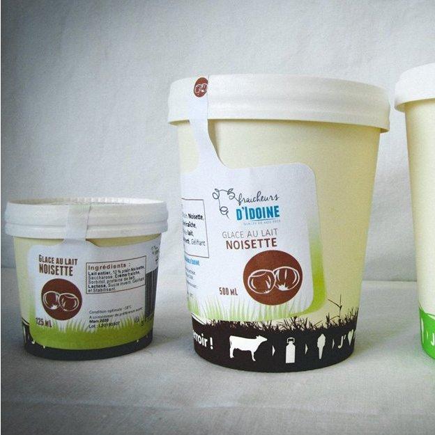 Ferme d'Idoine - Glace Vanille Gourmande 125mL - glace