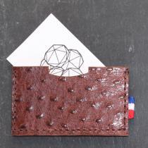 Fibre de Bois - Porte cartes simple - Maroquinerie