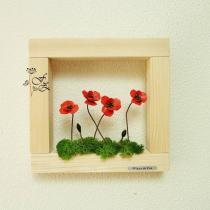 Fleurs de Zine - Cadre rouge - Cadre -