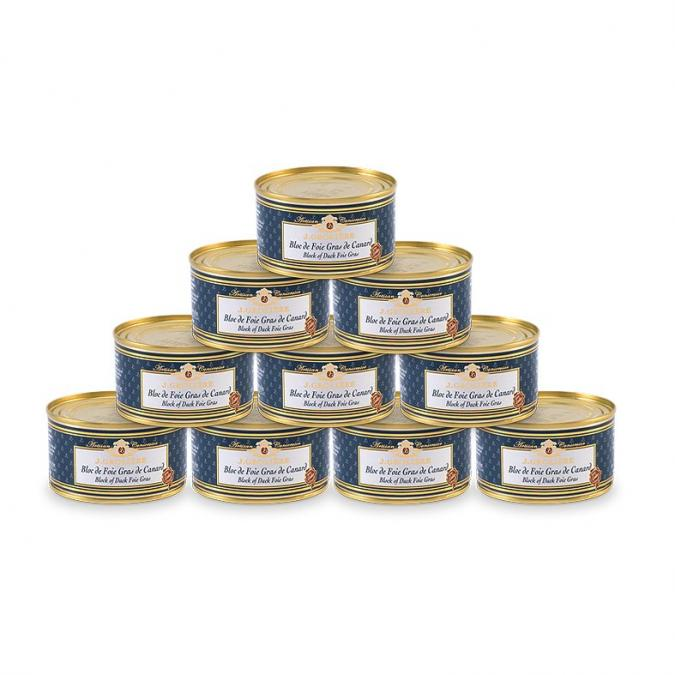 FOIE GRAS GROLIERE - 10 Blocs de Foie Gras de Canard 130 g - Foie gras - 1.300