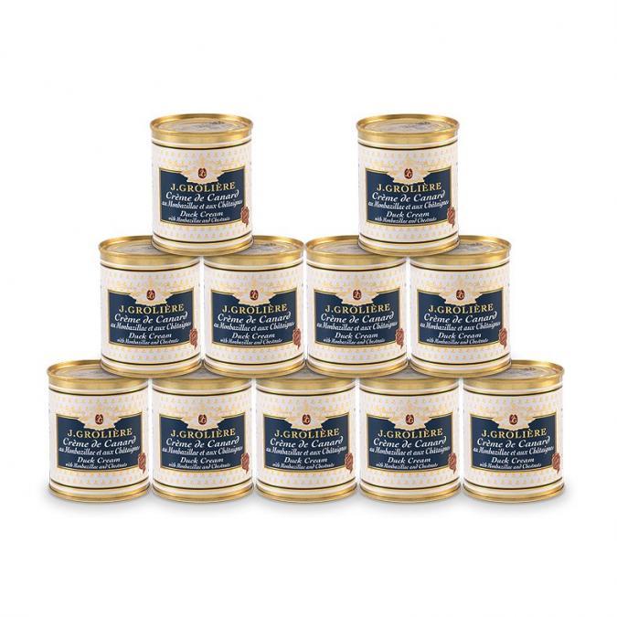 FOIE GRAS GROLIERE - 10 Crèmes de Canard au Monbazillac et aux Châtaignes + 1 Offerte - Crème, mousse - 1.430